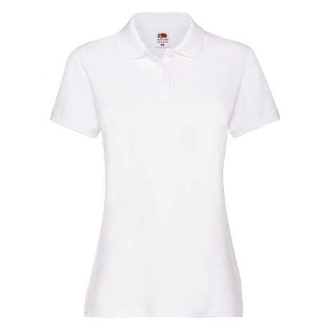 LADIES PREMIUM POLO, ženska polo majica bela