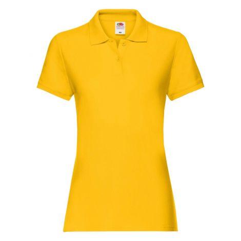LADIES PREMIUM POLO, ženska polo majica žuta