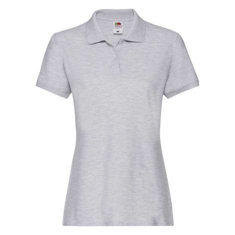 LADIES PREMIUM POLO, ženska polo majica siva