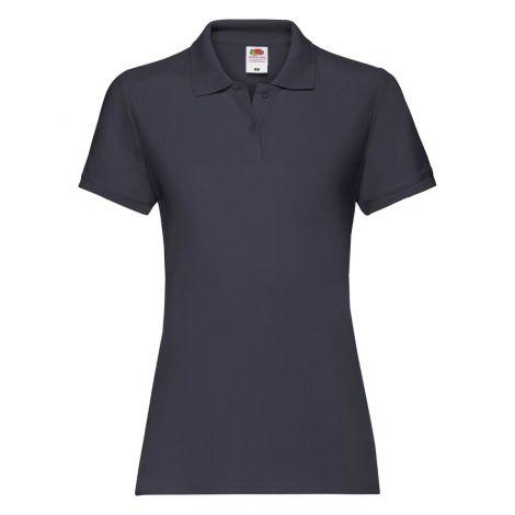 LADIES PREMIUM POLO, ženska polo majica teget