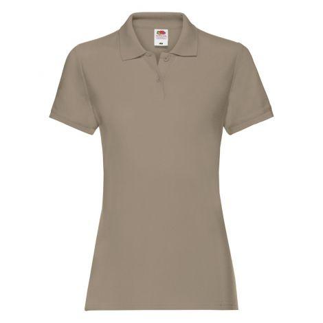 LADIES PREMIUM POLO, ženska polo majica bež