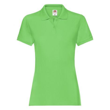 LADIES PREMIUM POLO, ženska polo majica limeta