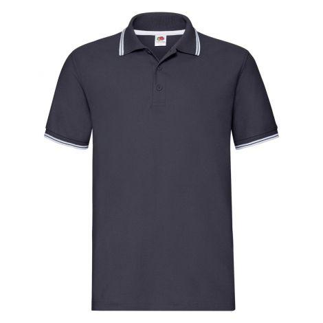 Premium Tipped Polo muška majica  teget-bela