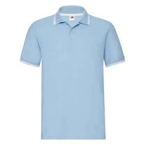 Premium Tipped Polo muška majica svetlo plava-bela