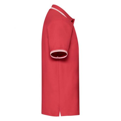 Premium Tipped Polo muška majica crveno-bela