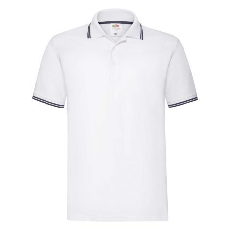 Premium Tipped Polo muška majica belo-plava