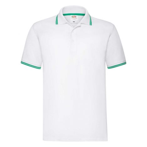 Premium Tipped Polo muška majica belo-zelena