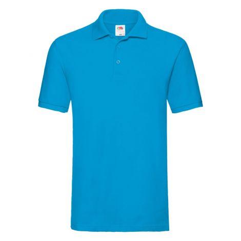 Premium Polo muška majica azurno plava