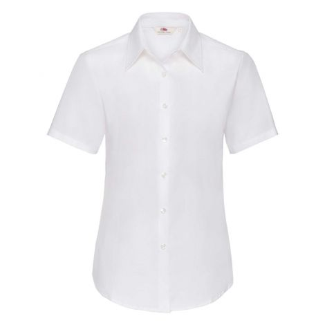LADIES OXFORD SHIRT SHORT SLEEVE, ženska košulja bela
