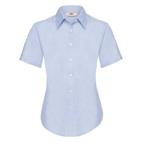 LADIES OXFORD SHIRT SHORT SLEEVE, ženska košulja plava