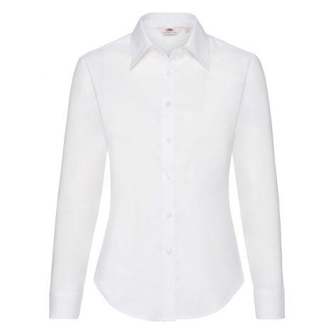 LADIES OXFORD SHIRT LONG SLEEVE, ženska košulja bela