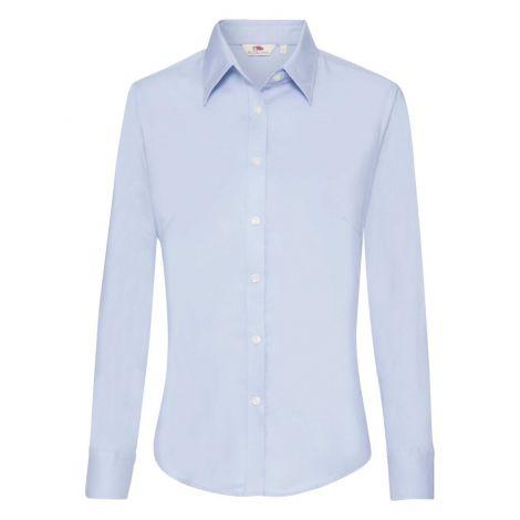 LADIES OXFORD SHIRT LONG SLEEVE, ženska košulja plava