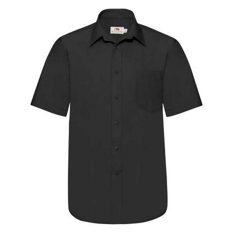 POPLIN SHIRT SHORT SLEEVE muška košulja crna
