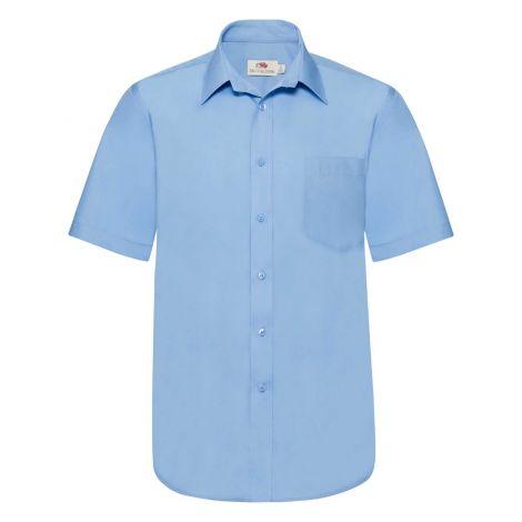 POPLIN SHIRT SHORT SLEEVE muška košulja plava